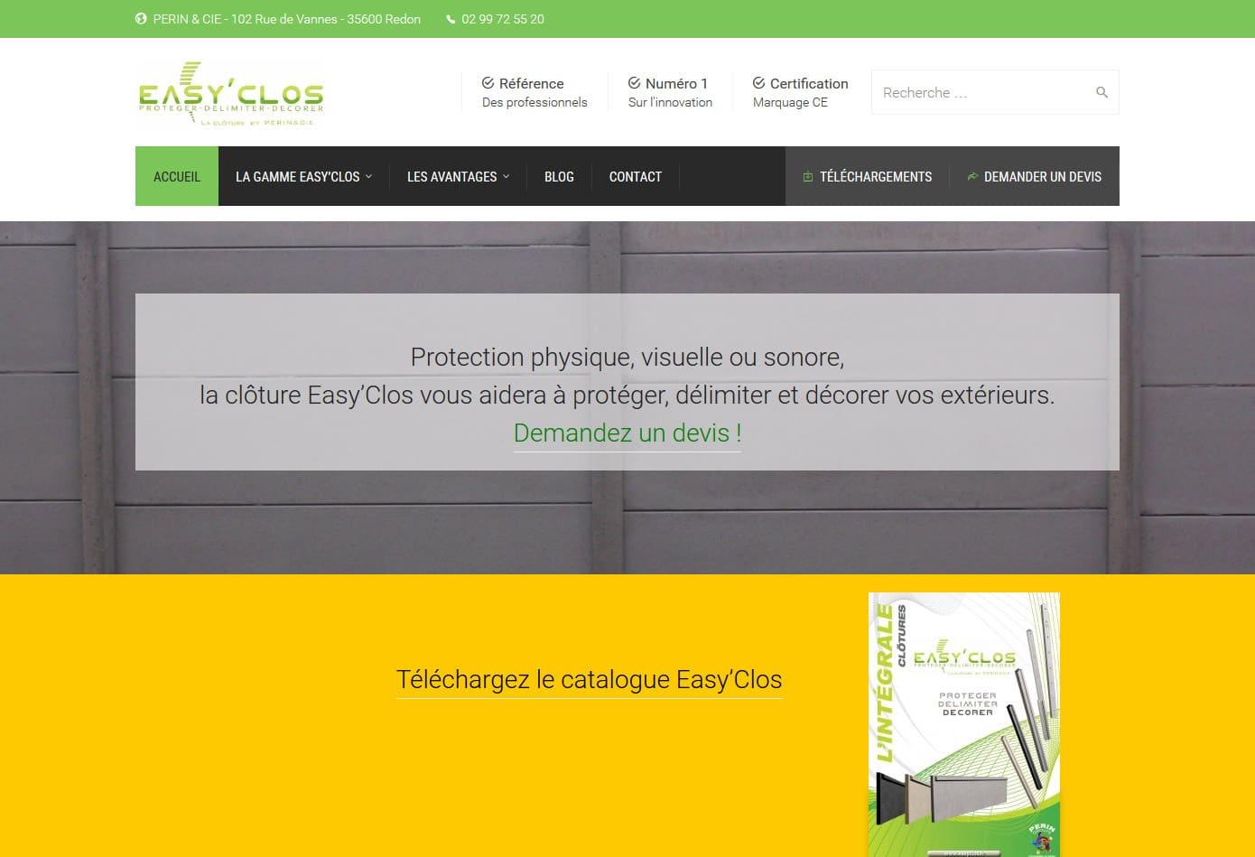 Lancement du site web Easyclos.fr