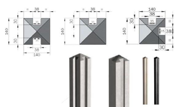 poteaux 140x140 - easy clos